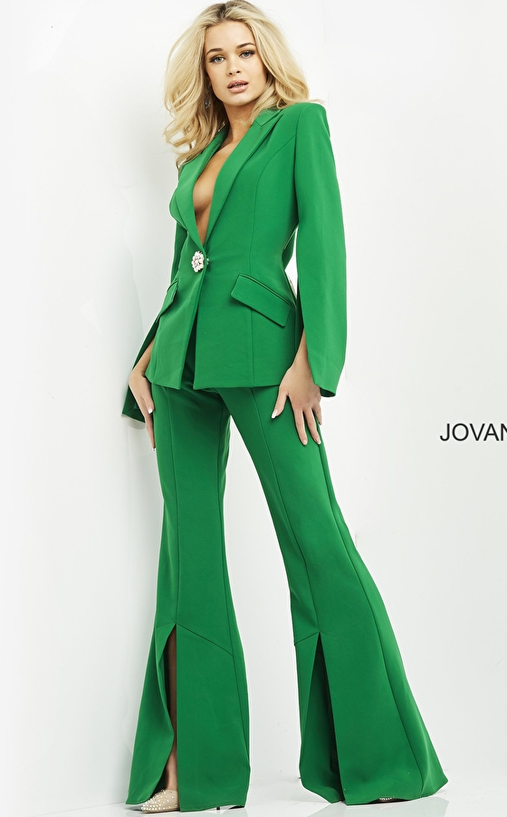 Single breasted blazer pant suit 06922