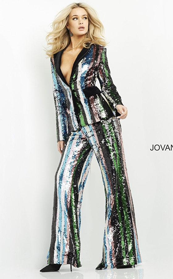 Multi sequin ready to wear Jovani suit M02942