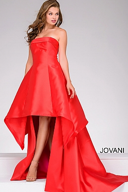 Red and Fuchsia High Low Prom Dress 47444