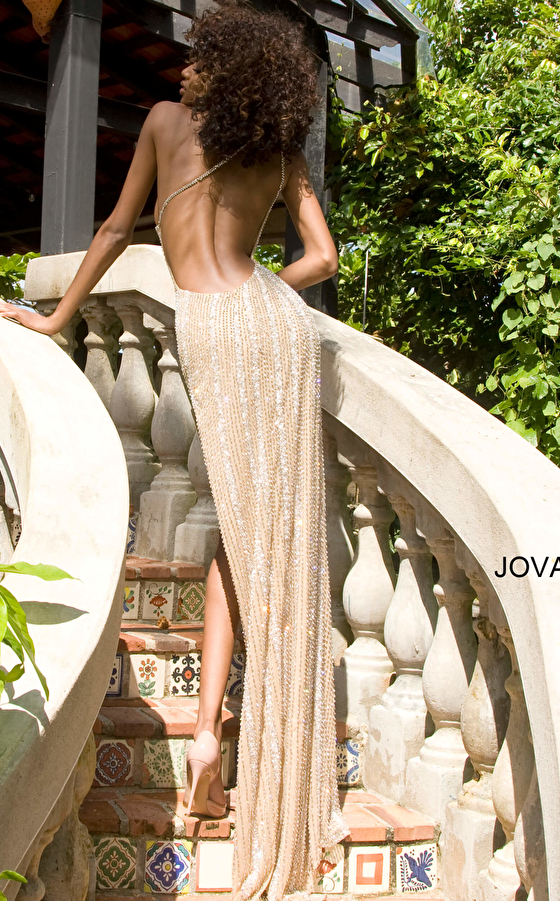 Jovani S4263 One Shoulder Beaded Sexy Pageant Dress