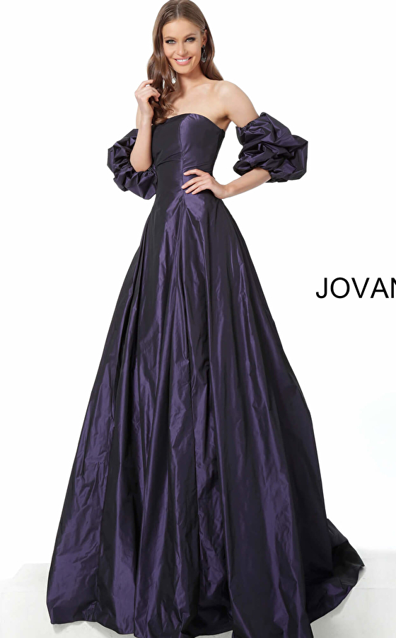 Jovani evening gown with sleeves 3986