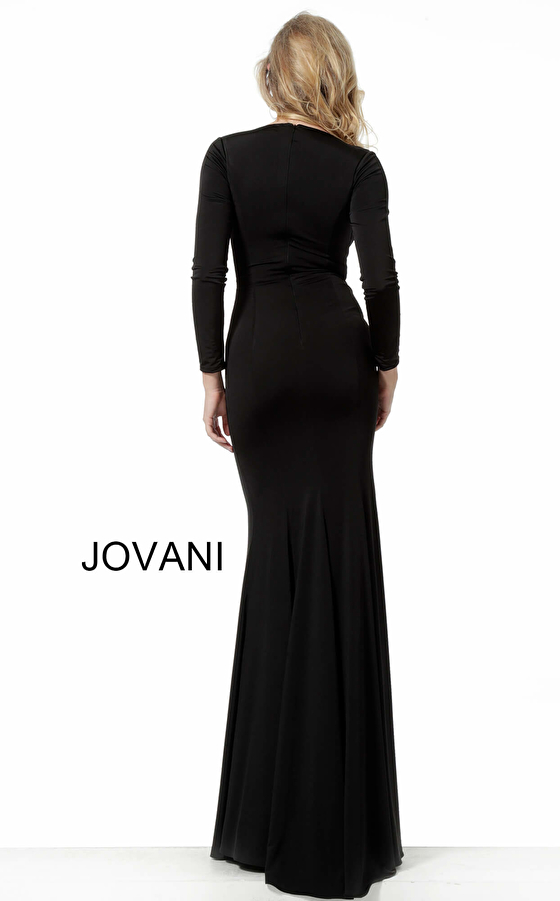 Jovani black jersey evening dress 64983