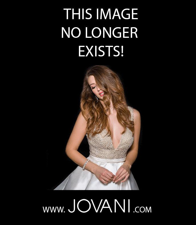 Jovani emerald off-the-shoulder prom dress
