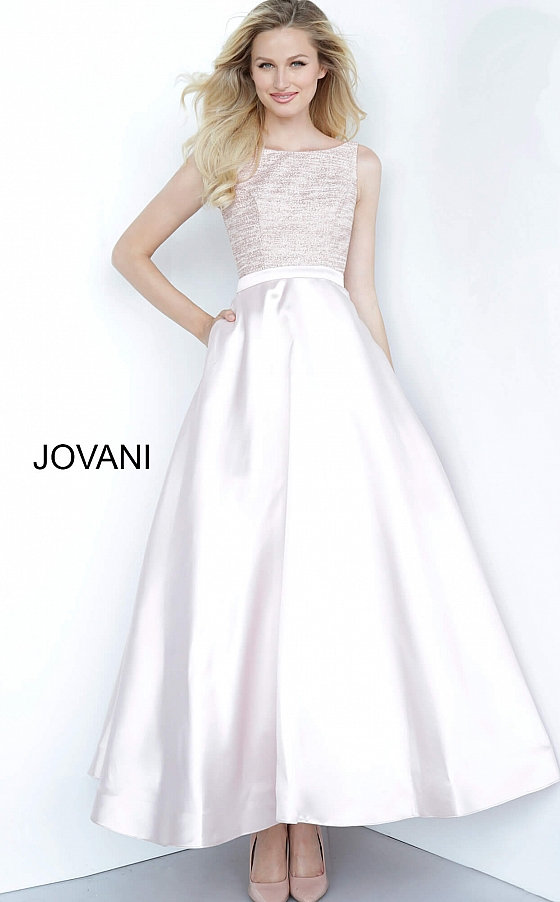 Blush A Line Tea Length Jovani Girls Dress K64808