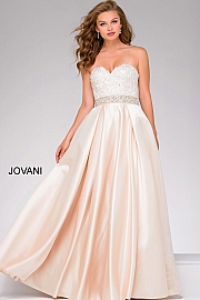 Lace Bodice Sweetheart Neck Prom Ballgown 47738