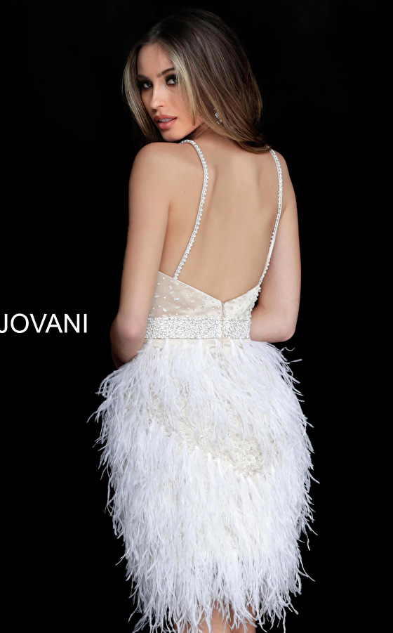 Short fitted Jovani homecoming dress 1729