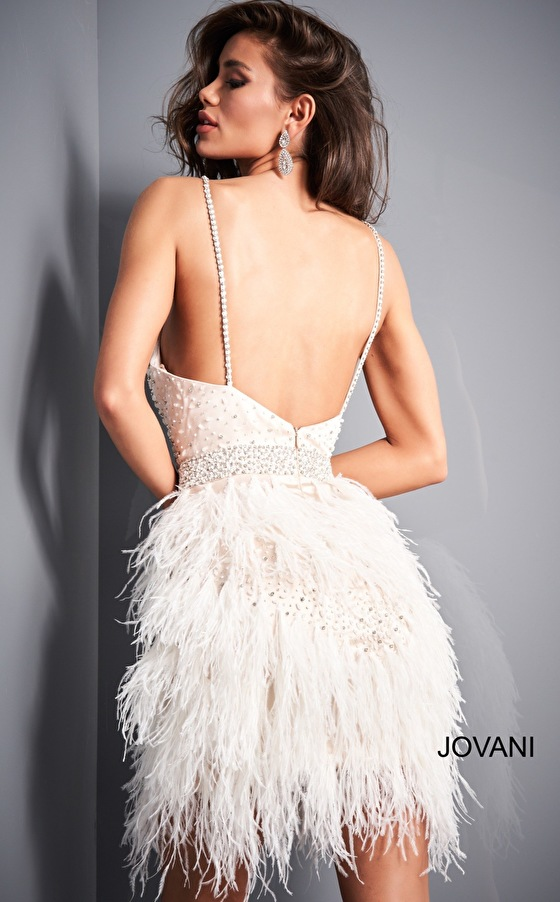 Jovani cocktail dress 1729 back view