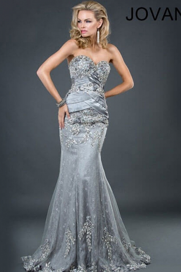 Jovani 1921 Sweetheart Beaded Mother of the Bride Dress