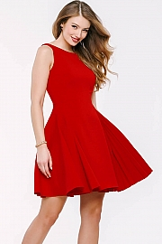 Red Sleeveless Fit and Flare Dress 42489