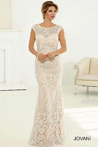 Lace Cap Sleeve Bridal Gown JB98466