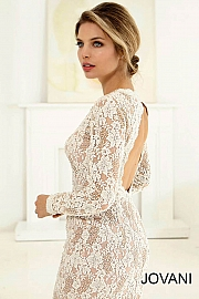 Long Sleeve Lace Bridal Gown 20599