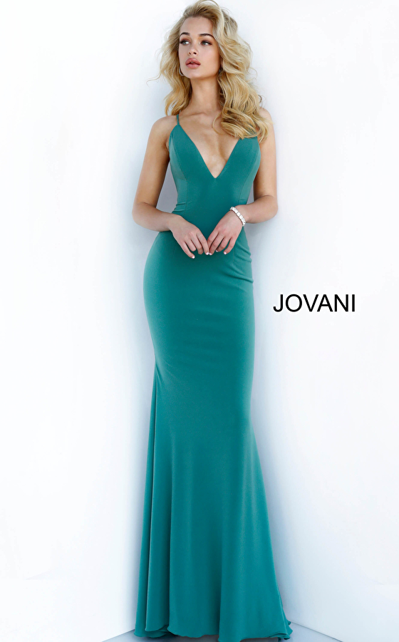 V Neckline Fitted Jovani Prom Dress 00512