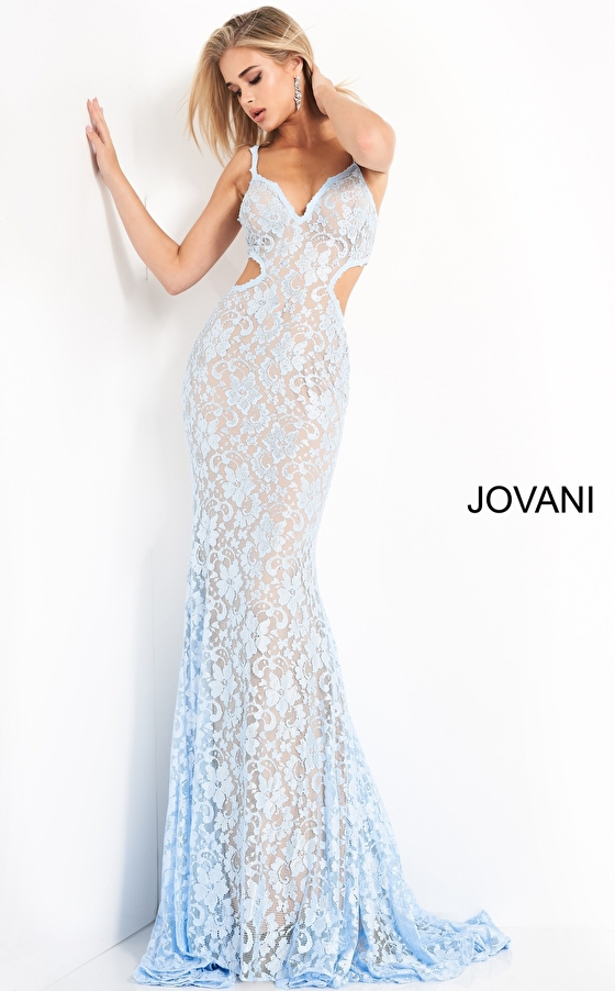 Embellished Lace Cut Outs Prom Dress 00780