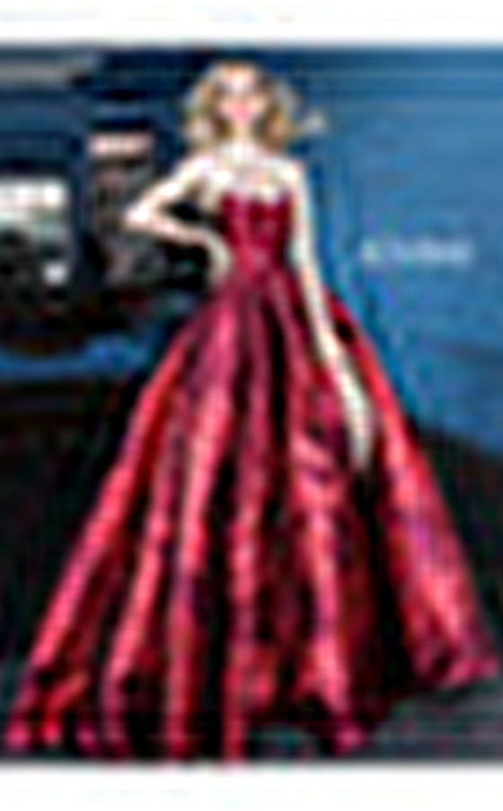Red pleated A line skirt gown Jovani 02038