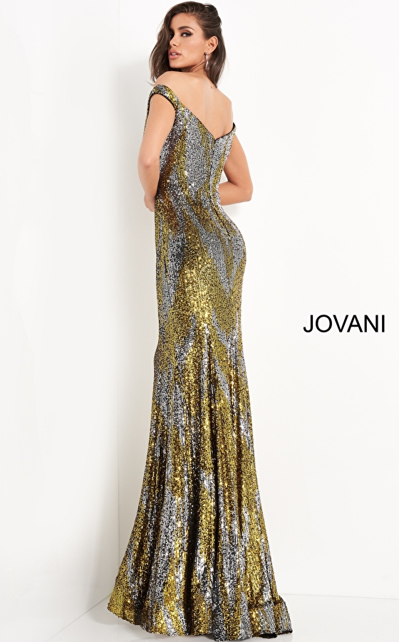 Sequin fitted prom dress Jovani 04149