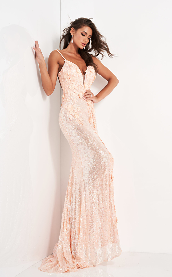 beaded backless prom dress 1012