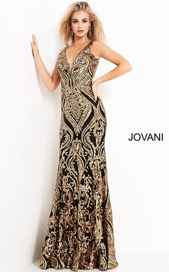 Jovani 2669 Fitted Sequin Prom Dress