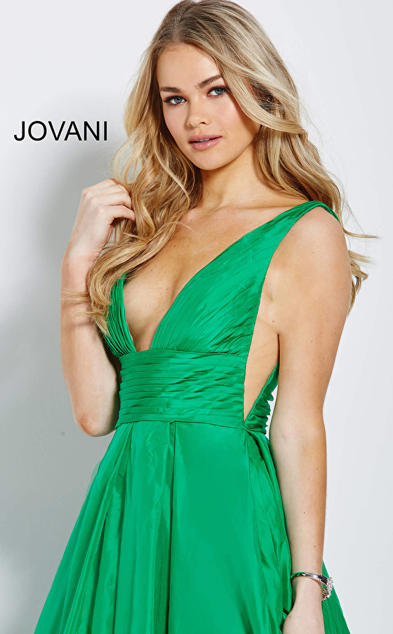 emerald green jovani prom gown 54812 zoom