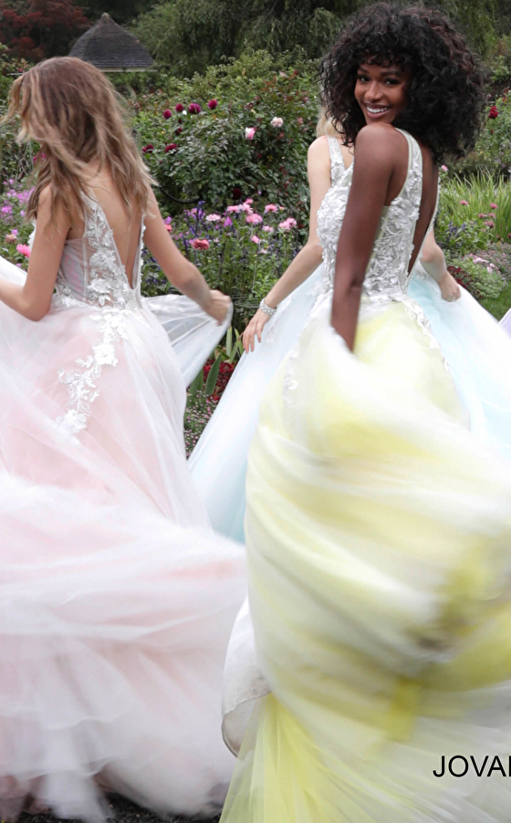 tulle floral appliques prom ballgowns 55634 outdoor