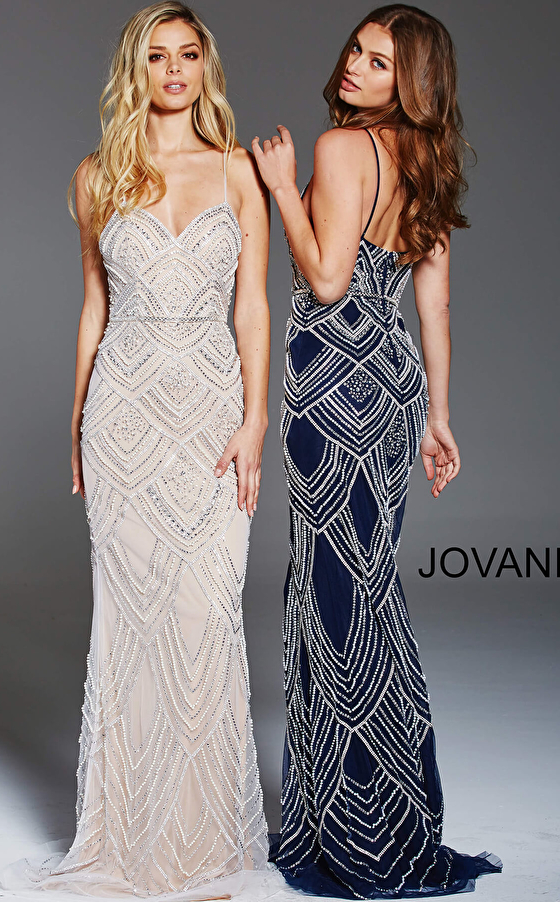 navy and nude prom dresses 60653