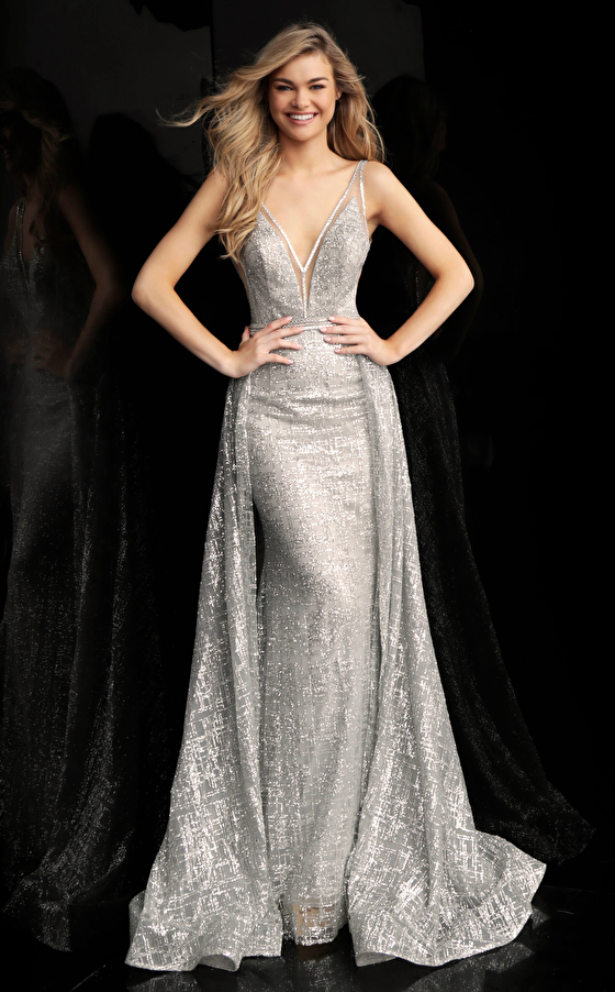silver fitted dress 62515