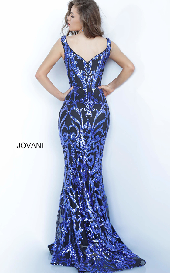 Jovani 63349 Black Royal Fitted Prom Dress