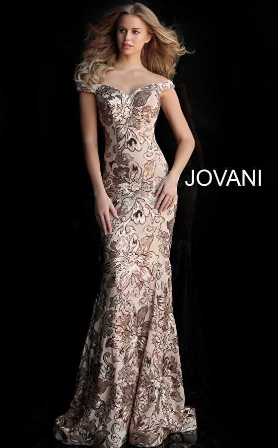 copper/gold sweetheart neck prom dress 63516