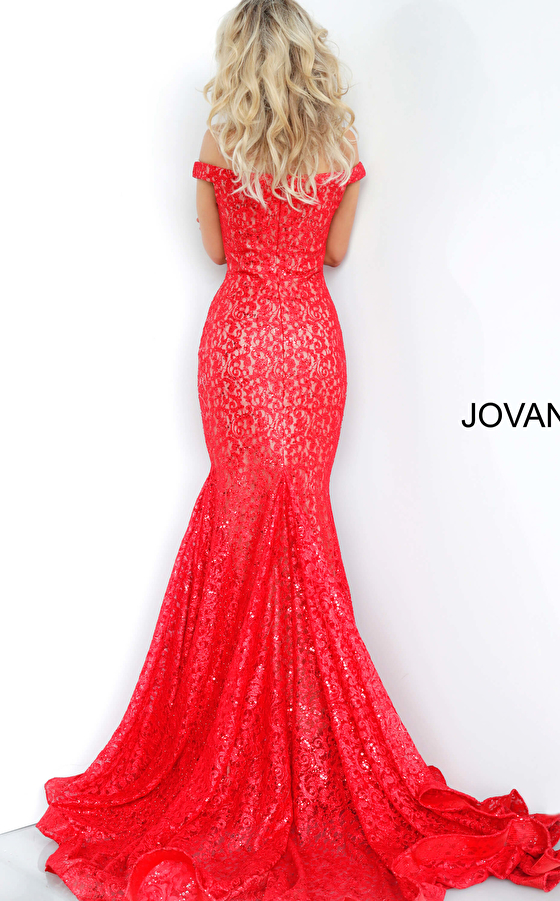 lace red dress 64521