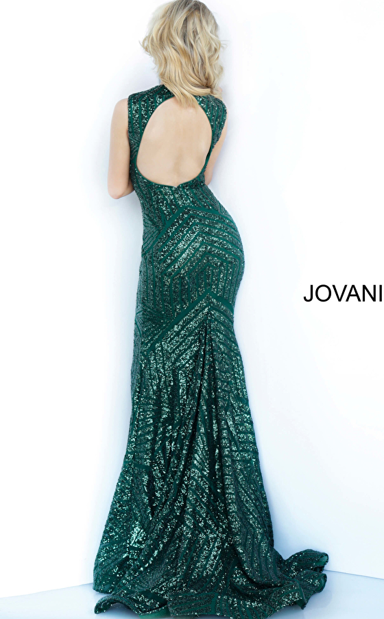Fitted Sleeveless Sequin Prom Dress 64807