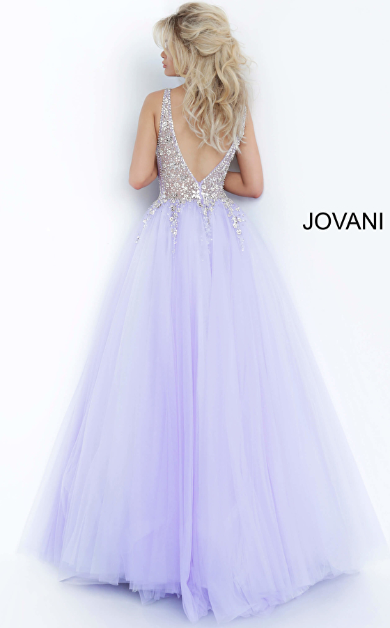 grey tulle full skirt fitted bodice prom gown 65379