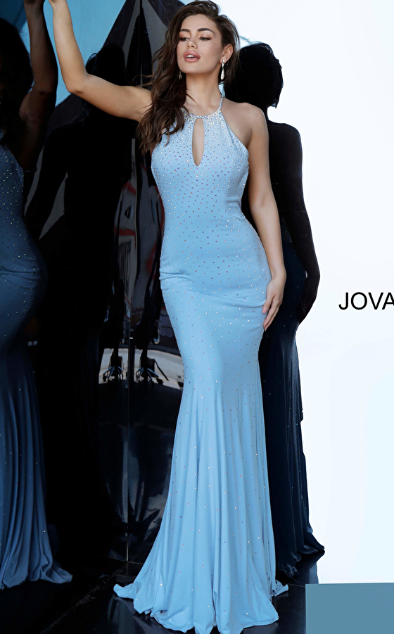 Beaded  Jersey Jovani Prom Dress 67101