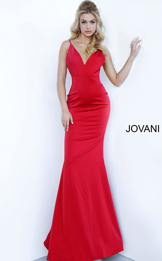 jovani Jovani 67857 Backless Fitted Prom & Bridesmaid Dress