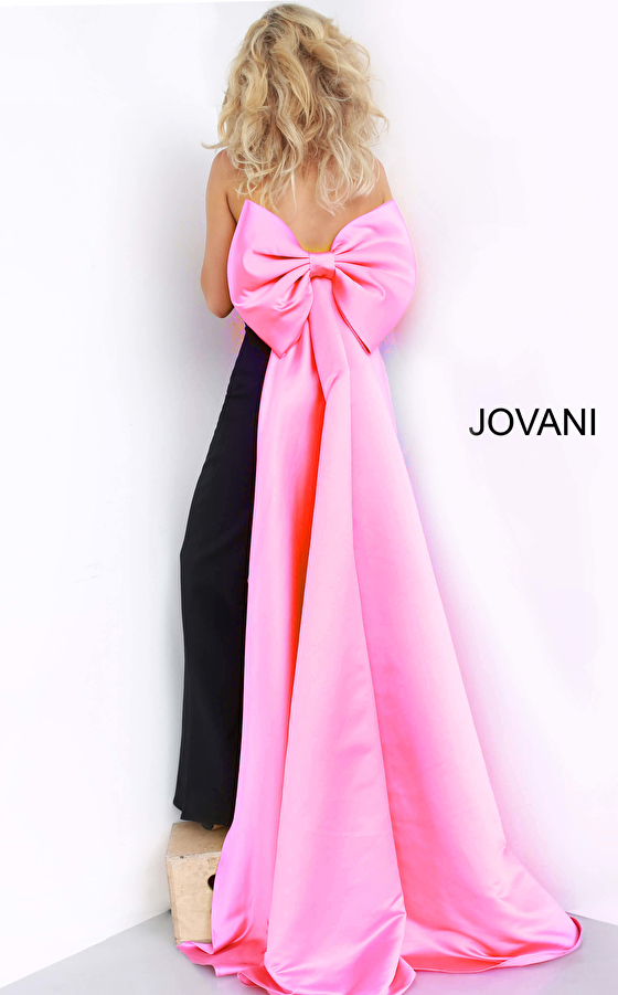 jumpsuit with bow at the back 3263