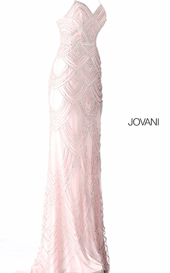blush fitted dress 60653