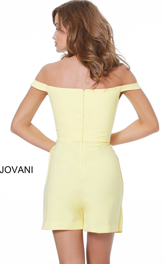 Yellow romper 04126 back view
