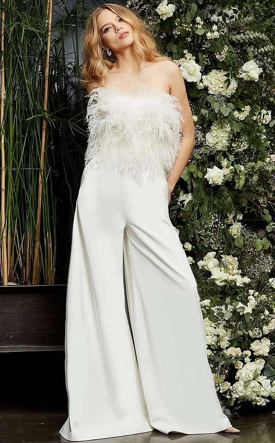 Bridal jumpsuit with pockets 1542
