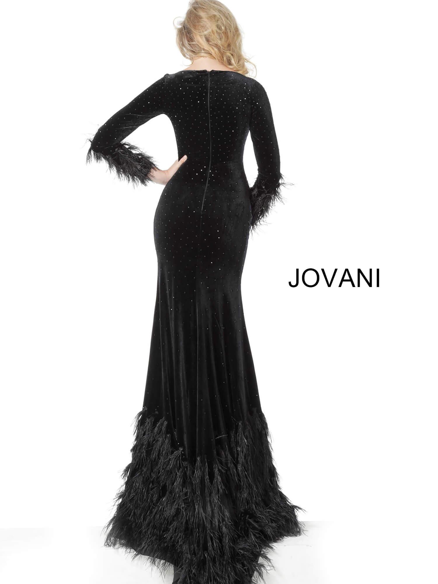 Jovani 1085 | Black Long Sleeves Sheath