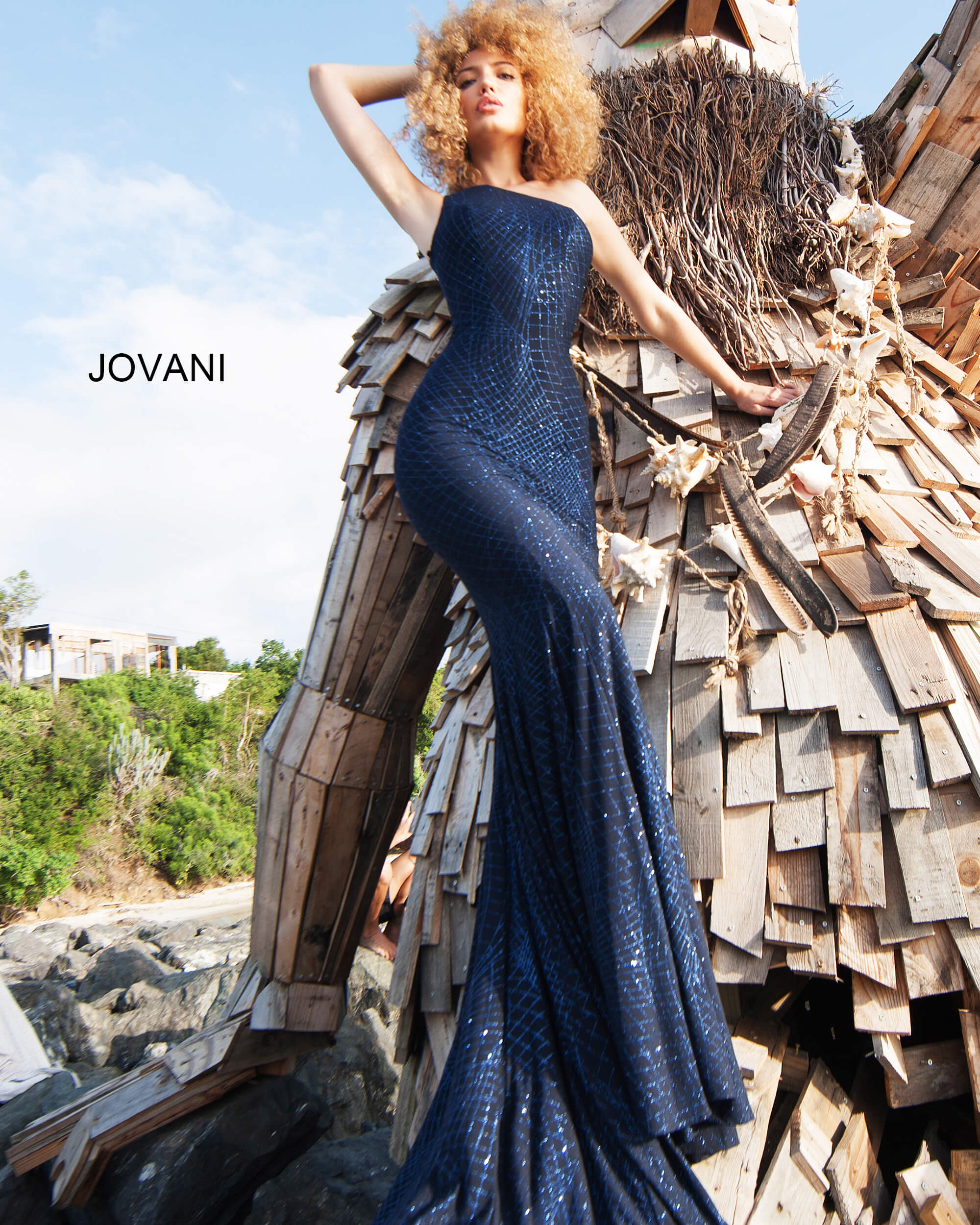 One Shoulder Fitted Jovani Prom Dress 1119