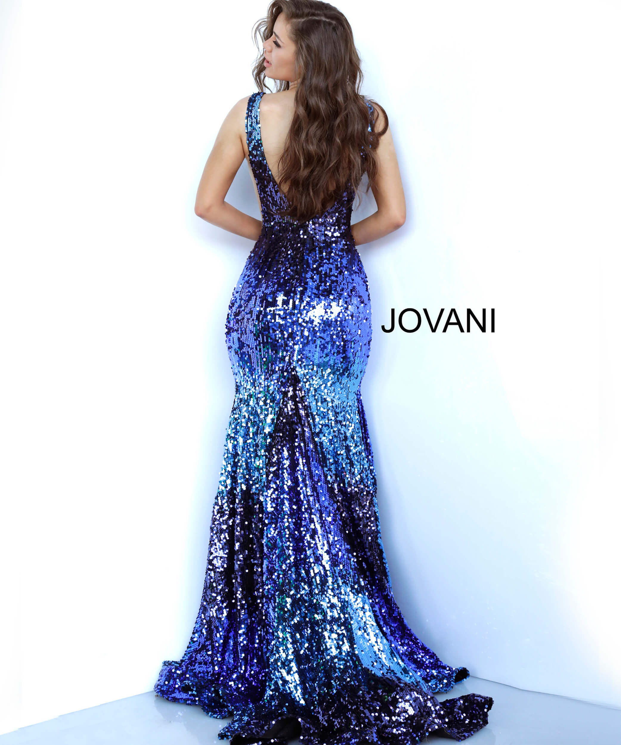 mermaid embellished dress 3192