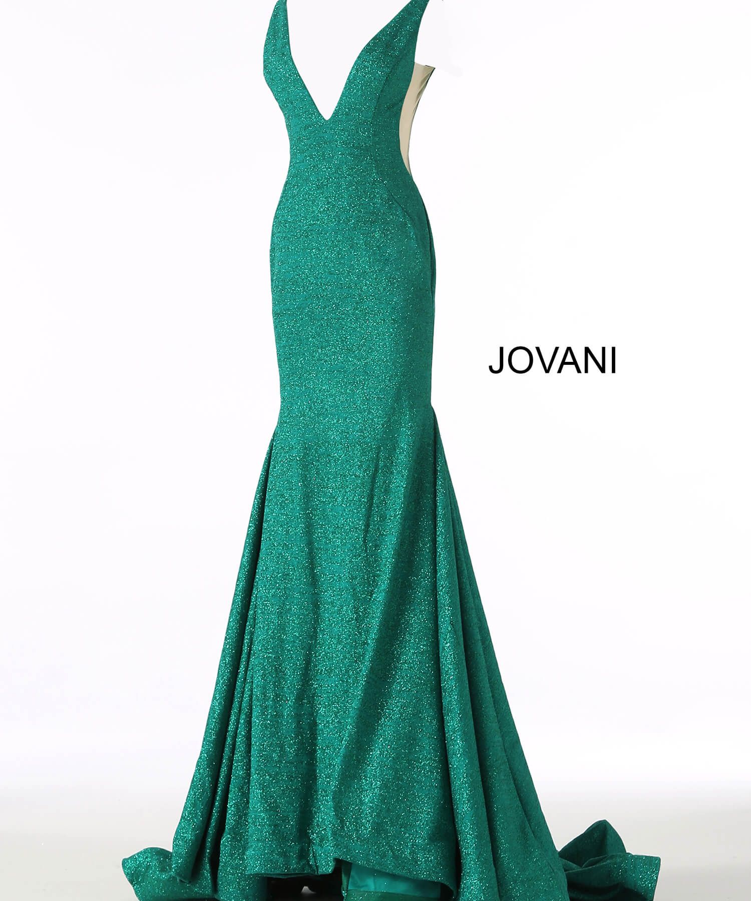 Jade mermaid glitter jersey prom dress 47075