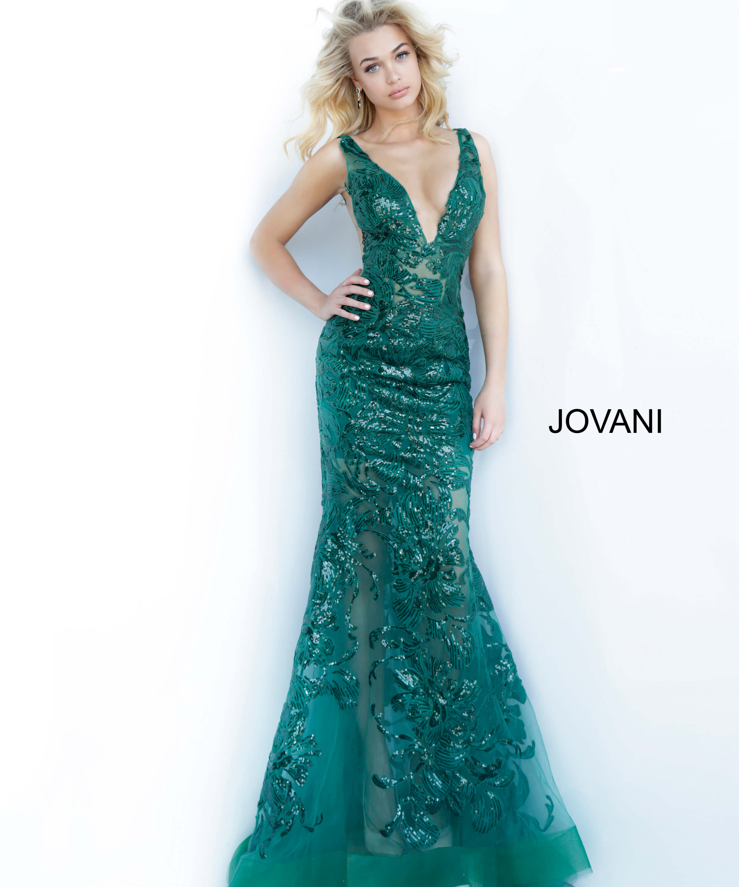 forest form fitting prom dress 60283