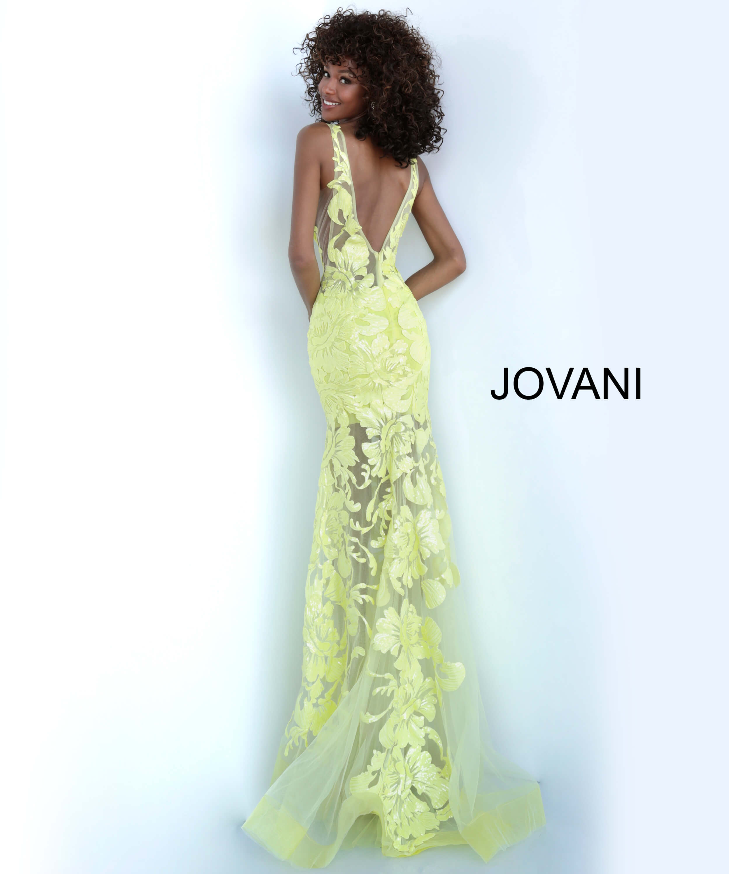 yellow prom dress 60283 back view