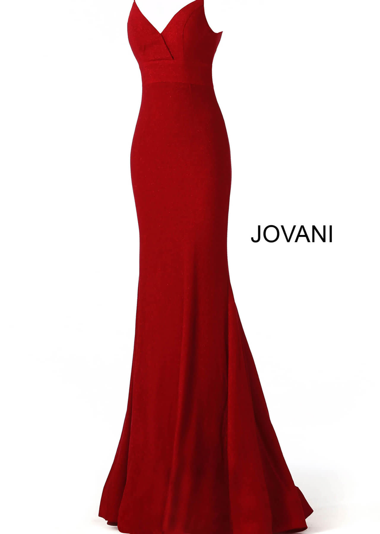 form fitting back zipper red glitter prom dress 66442 on mobile 0