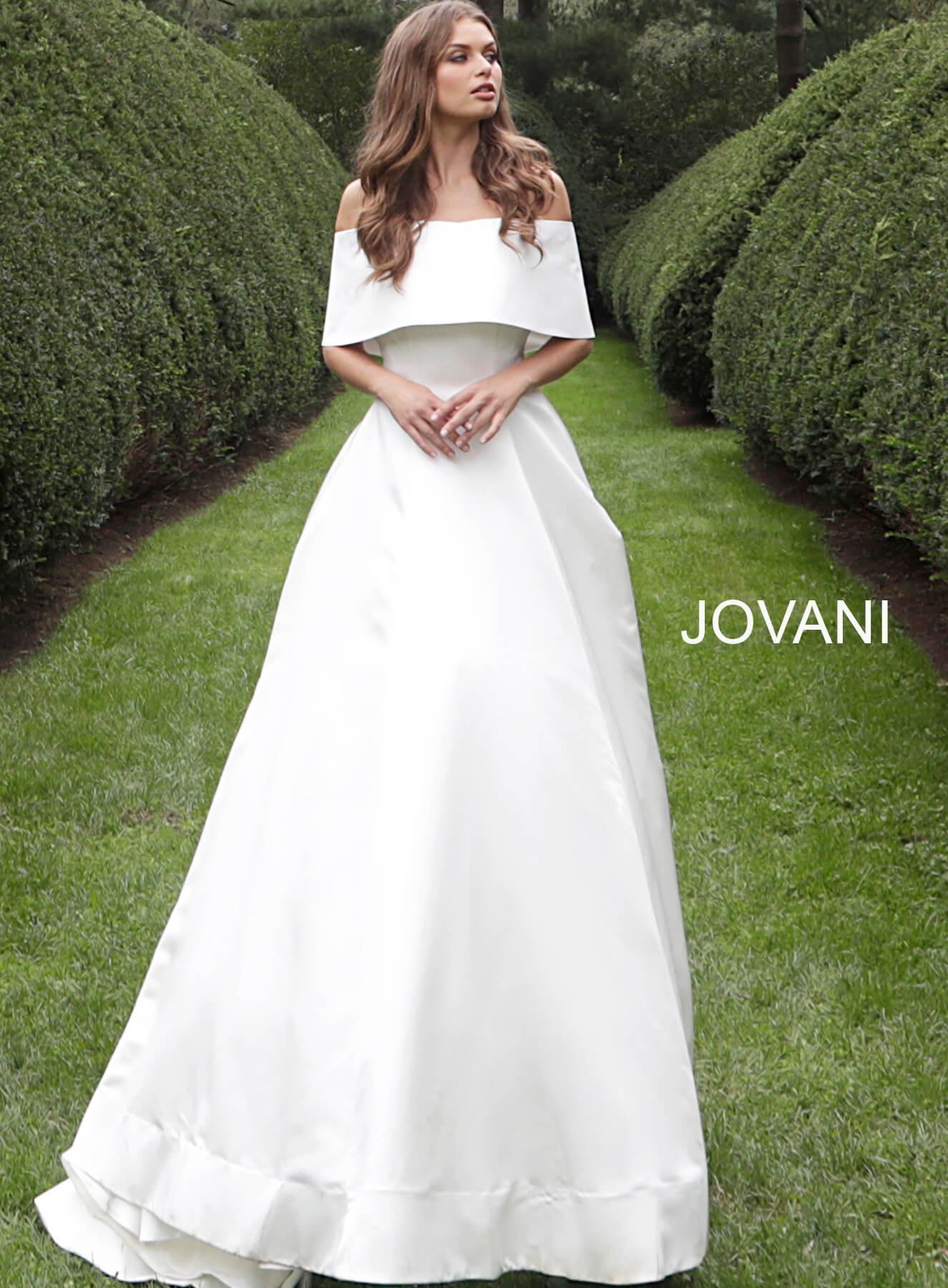 Off Shoulder Wedding Dress.Off White Off The Shoulder Silk Wedding Gown S68287